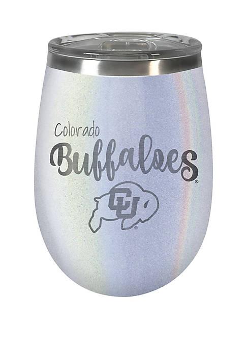 NCAA Colorado Buffaloes 12 Ounce Opal Wine Tumbler