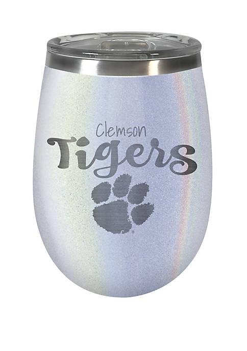 NCAA Clemson Tigers 12 Ounce Opal Wine Tumbler