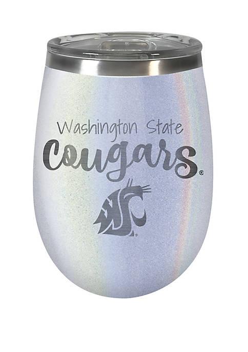 NCAA Washington State Cougars 12 Ounce Opal Wine Tumbler