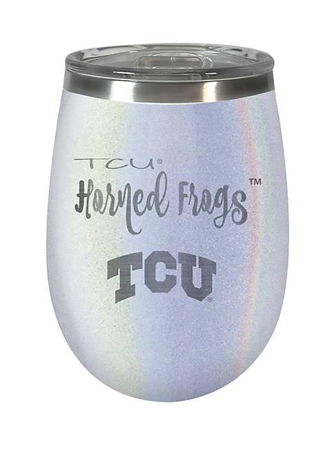 NCAA TCU Horned Frogs 12 Ounce Opal Wine Tumbler