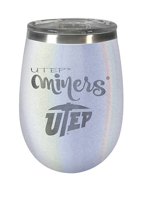 NCAA UTEP Miners 12 Ounce Opal Wine Tumbler