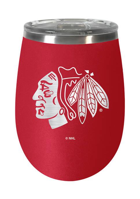 NHL Chicago Blackhawks  10 Ounce Team Colored Wine Tumbler