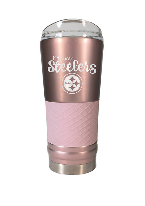 NFL Pittsburgh Steelers 24 Ounce Rose Gold Draft Tumbler
