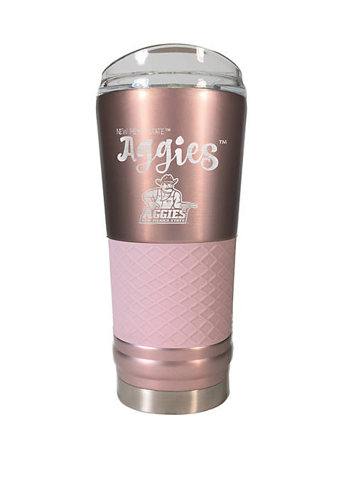 NCAA New Mexico State Aggies 24 Ounce Rose Gold Draft Tumbler