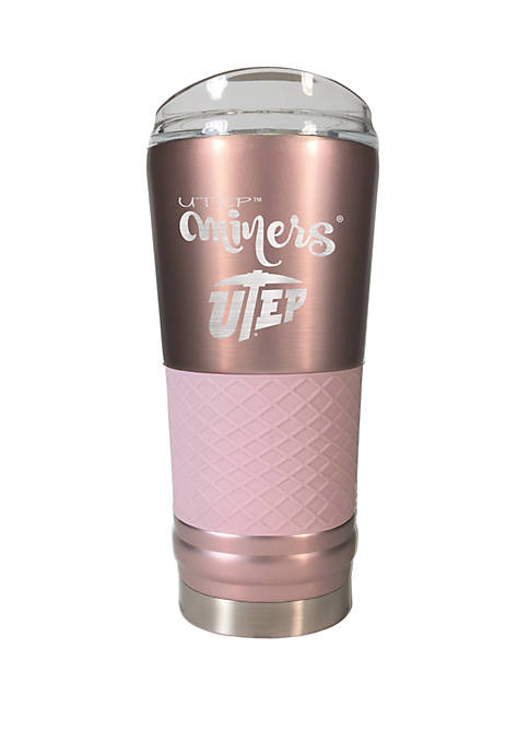 NCAA UTEP Miners 24 Ounce Rose Gold Draft Tumbler