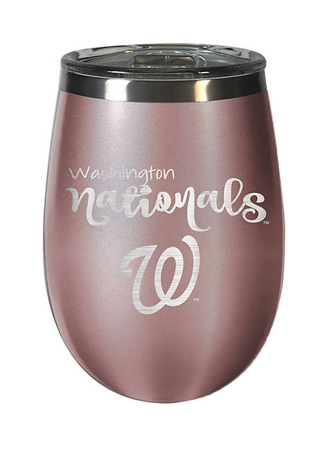 MLB Washington Nationals 12 Ounce Rose Gold Wine Tumbler