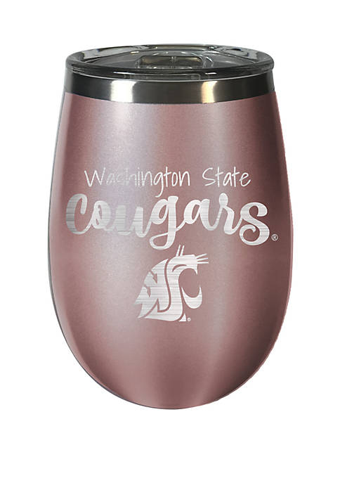 NCAA Washington State Cougars 12 Ounce Rose Gold Wine Tumbler