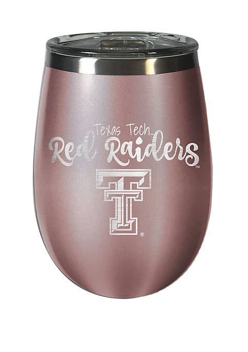 NCAA Texas State Bobcats 12 Ounce Rose Gold Wine Tumbler