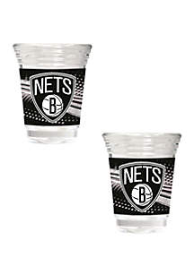 Great American Products NBA Brooklyn Nets 2 Ounce Party Shot Set