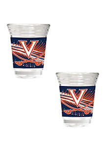 Great American Products NCAA Virginia Cavaliers 2 Ounce Party Shot Set