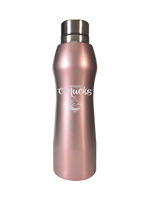NHL Vancouver Canucks 20 Ounce Rose Gold Hydration Bottle