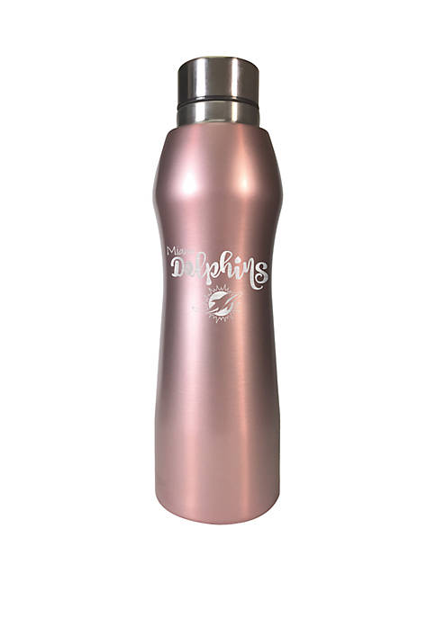 NFL Miami Dolphins 20 Ounce Rose Gold Hydration Bottle