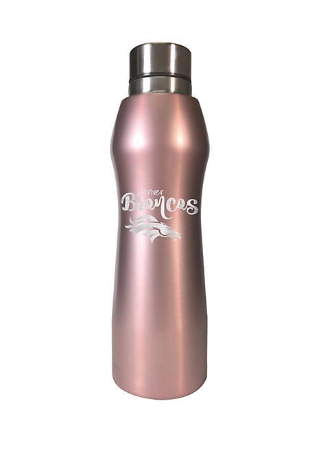 NFL Denver Broncos 20 Ounce Rose Gold Hydration Bottle