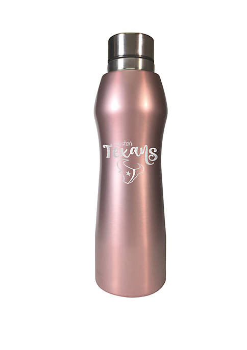 NFL Houston Texans 20 Ounce Rose Gold Hydration Bottle