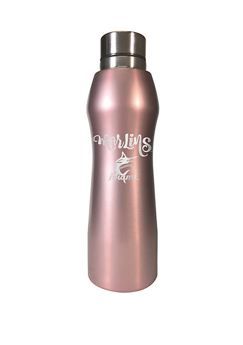 MLB Miami Marlins 20 Ounce Rose Gold Hydration Bottle