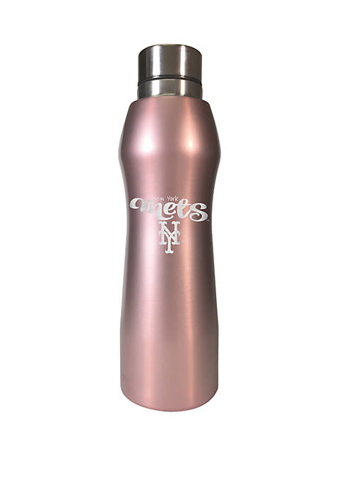 MLB New York Mets 20 Ounce Rose Gold Hydration Water Bottle