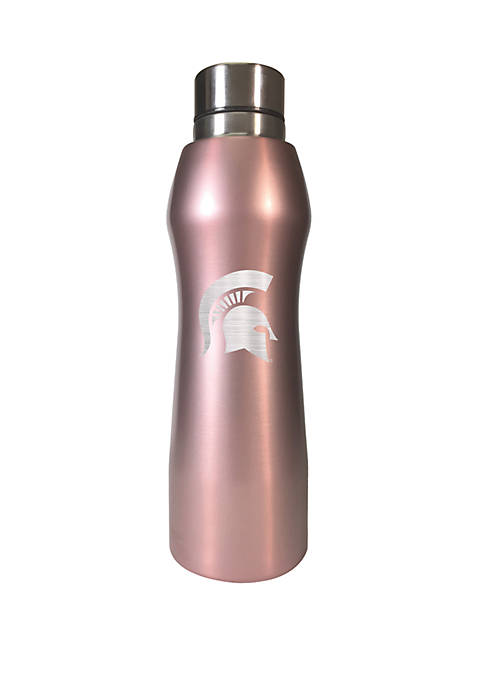 NCAA Michigan State Spartans 20 Ounce Rose Gold Hydration Water Bottle