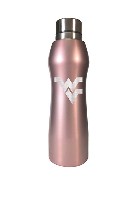 NCAA West Virginia Mountaineers 20 Ounce Rose Gold Hydration Water Bottle