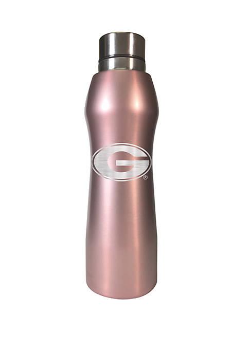 NCAA Georgia Bulldogs 20 Ounce Rose Gold Hydration Water Bottle