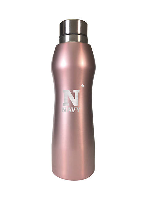 NCAA Navy Midshipmen 20 Ounce Rose Gold Hydration Water Bottle