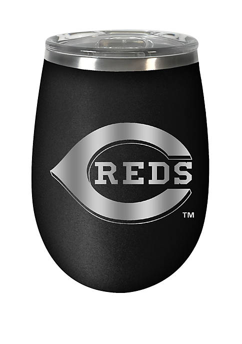 MLB Reds 12 Ounce Stealth Wine Tumbler
