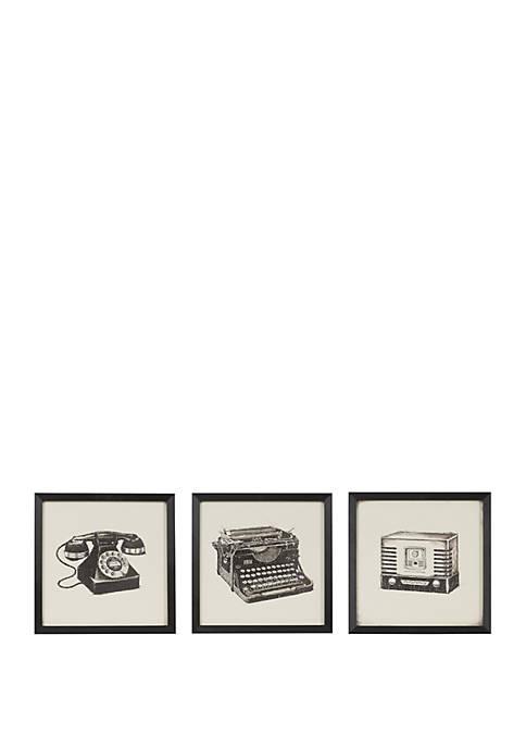 Intelligent Design Vintage Models Wall Art Set