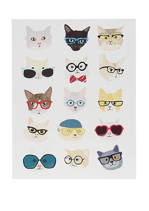 Intelligent Design Hip Cat Wall Art
