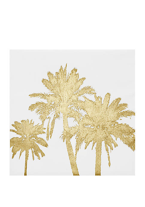 Intelligent Design Gold Palms Wall Art
