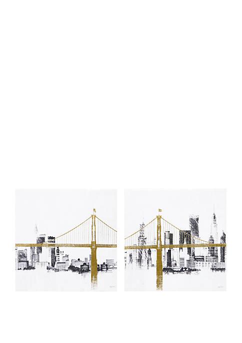 INK + IVY® Bridge and Skyline Wall Art