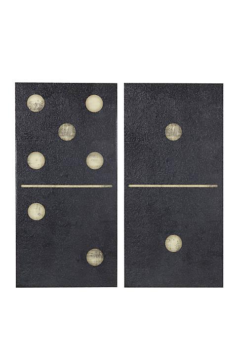 Two Black Dominos Wall Art Set