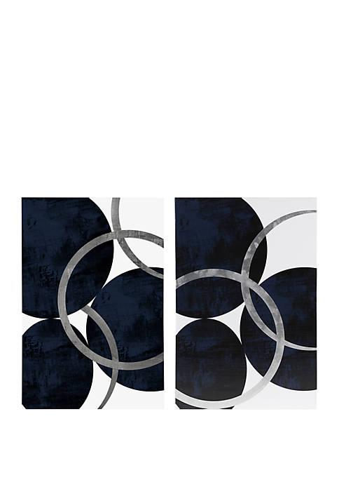 INK + IVY® Celestial Orbit Navy Wall Art