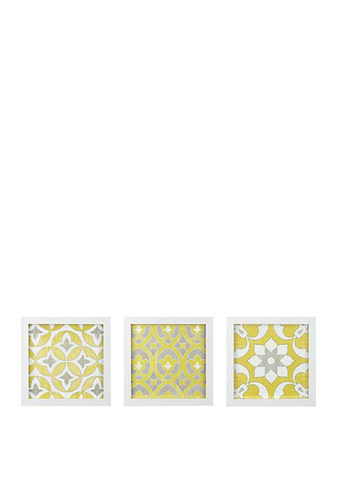 Tuscan Tiles 3 Piece Wall Art Set