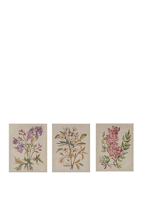 Linen Botanicals Canvas Set