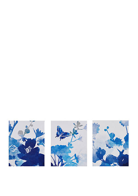 Cobalt Garden Canvas Set
