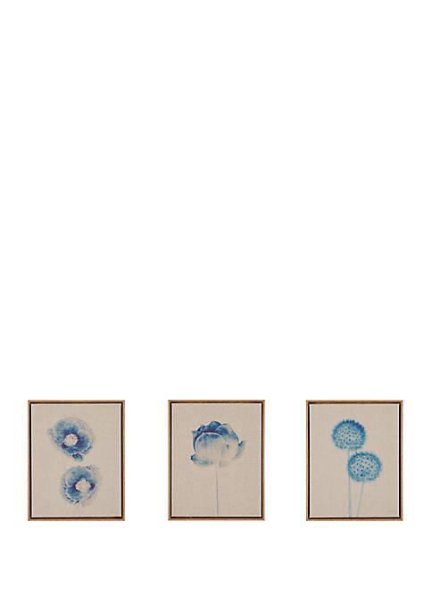 Blue Print Botanicals Canvas Art Set