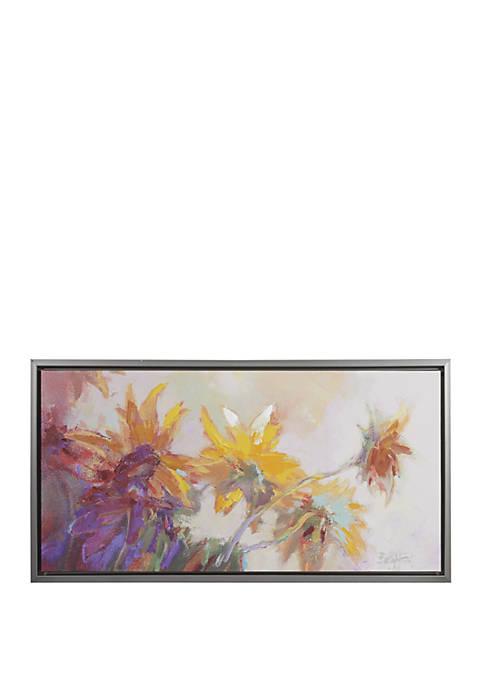 Madison Park Golden Sunflowers Wall Art