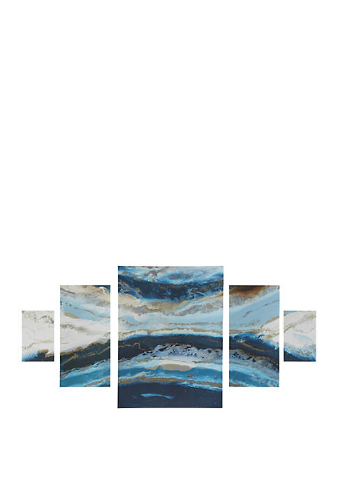Madison Park Midnight Tide Blue Gel Coat Canvas