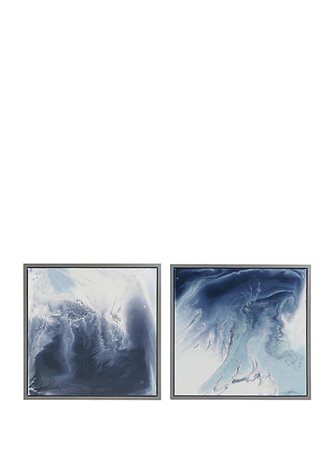 Madison Park Blue Lagoon Gel Coat Framed Canvas