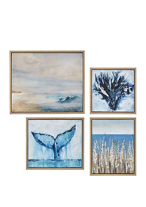 Madison Park Seascape Gel Coat Framed Canvas 4