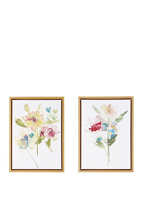 Madison Park Bloom Bouquet Framed Canvas Set of