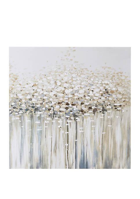Dream Forest Hand Brush Embellished Canvas