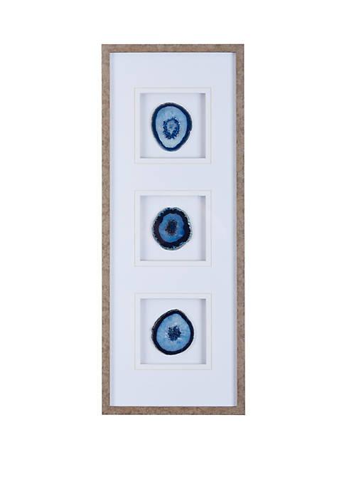 Blue Agate Trio Wall Art