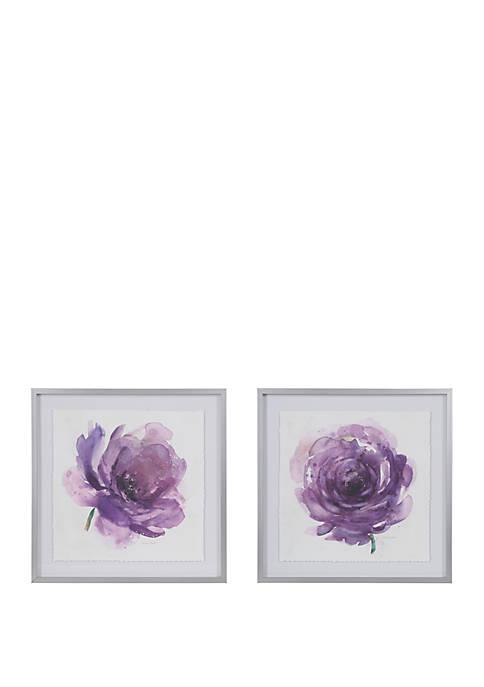 Madison Park Signature Purple Ladies Rose Wall Art