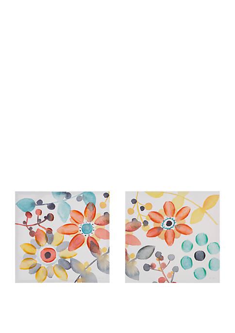Intelligent Design Sweet Florals Canvas Set
