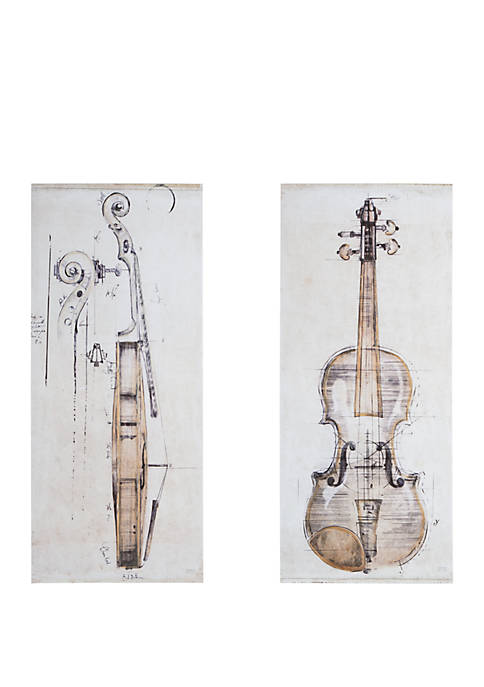 Madison Park Violin Study Canvas Set