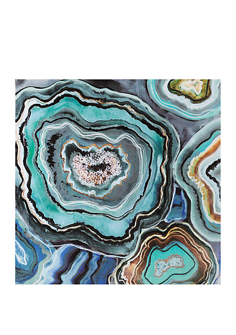 Madison Park Aqua Agate Canvas