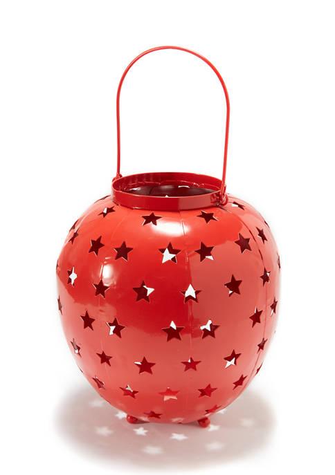goodness & grace Red Star Hurricane Decoration