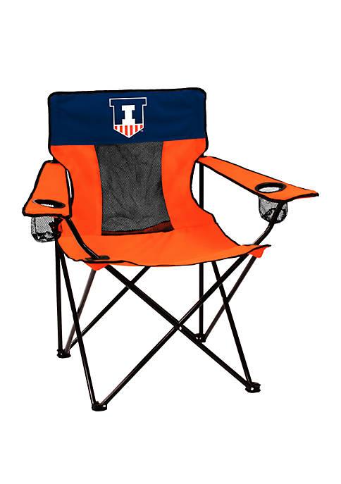 Logo NCAA Illinois Fighting Illini Elite Chair
