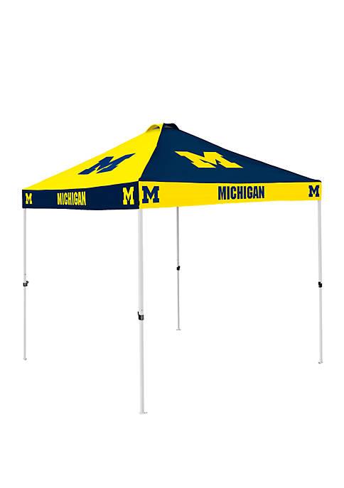 Logo NCAA Michigan Wolverines Checkerboard Tent