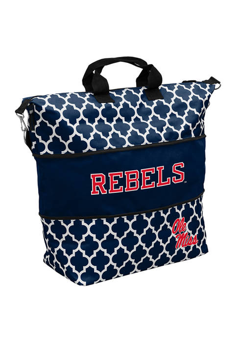 Logo NCAA Ole Miss Rebels Expandable Tote